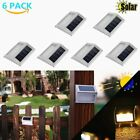 LOT Solar Powered Stainless Steel Staircase Path Floor White Light Patio Lamp MA