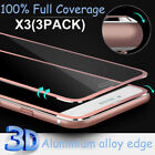 For iphone 8/X/6/7Plus Full Cover 3D Premium Tempered Glass Screen Protector Lot