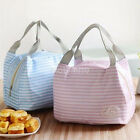 Portable Lunch Bag Picnic Cooler Insulated Canvas Tote Holder Hot Thermal Foods