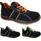MENS  LIGHT WEIGHT STEEL TOE CAP WORK SAFETY TRAINERS SHOES BOOT LACE UP SUEDE S