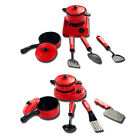 1Set of 6pcs Kids Children Kitchen Utensil Accessories Cooking Play Toy Cookware