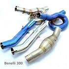 Universal Mid Link Pipe Motorcycle Modified Connecting Tube Slip On Benelli300