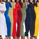 Us Women Long Sleeve Bodycon Pencil Dress Evening Cocktail Party Long Maxi Dress