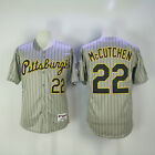 Mens Pittsburgh Pirates 22 Andrew McCutchen Gray stripe Turn Back Jersey