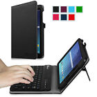 For Samsung Galaxy Tab E 8-Inch Tablet Folios Case Cover Stand with Keyboard