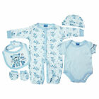 5 Piece Baby Boys Clothing Outfit Layette Gift Set in Blue Best Friends NB-3-6