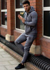 GYM KING MENS FULL TRACKSUIT  SKINNY FIT CHARCOAL GREY  S,M,L, XL NEW DESIGN