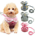 Mesh Padded Dog Harness & Leash Pet Puppy Vest for Dogs XS S M Chihuahua & Bell