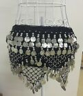 Belly Dance Gold Silver Coins  Bead Hip Scarf Belt Skirt Wrap Festival Costume