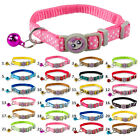 6pcs Breakaway Cat Safety Collar for Kitty Kitten Pet Puppy Small Dog with Bell