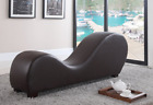 Yoga Chair Chaise Lounge Stretch Relaxation Sex Modern Bonded Leather Loveseat