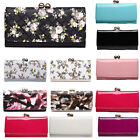 Women&Ladies Designer Colorful Clutch Flower Pattern Purse Coin Wallet