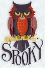 SPOOKY OWL Halloween Made To Order Embroidered Kitchen Towel Choices