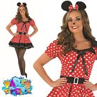 Sexy Missy Mouse Costume Womens Cartoon Fairy Tale Fancy Dress Outfit New