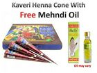 16 Kaveri natural herbal henna cone temporary tattoo body art kit and oil free