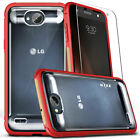 LG X Charge Case, Zizo FLUX w/ Screen Protector-Crystal Clear Back-X Power 2 LV7