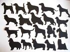 9 DOG SILHOUETTE DIE CUTS ASSORTED S - Z BREEDS TOPPERS  MIX & MATCH + VINYL