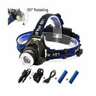 Rechargeable Headlamp1800 Lumens Zoomable Waterproof LED head lamp flshlight NEW