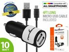 Dual USB Car Charger iPhone Samsung 2.1 Amp High Speed Universal Charging 2 Port