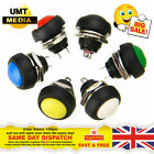 12mm Round Push Button Momentary SPST Switch Black White Red Green Blue Yellow