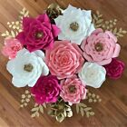 2X DIY 20cm Paper Flower Backdrop Hen Party Kid Birthday Wedding Home Room Decor