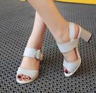 Womens High Heels Peep Toe Faux Leather Gothic Dress Cut Out Sandals Shoes Pumps
