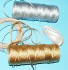 BEAUTIFUL BAKERS TWINE 2mm 2 PLY Solid Gold or Silver Metallic - Craft String