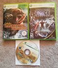 Lot of 3 Xbox 360 Games. Star Wars, Hunting, Call of duty. Used. Complete.