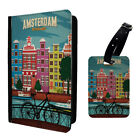 Vintage Poster Amsterdam Luggage Tag & Passport Holder - T2634