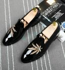 Bling Bling Mens Patent Leather Pull On Fashion Oxfords Dress Business Shoes SZ