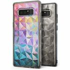 Samsung Galaxy Note 8 Phone Case Chic Cool Protective Cover Glitter Grey Clear