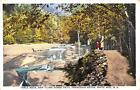 NH, New Hampshire FAMILY AT TABLE ROCK~Flume Gorge Path~White Mountains Postcard