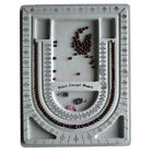 DIY Flocked Bead Board Bracelet Necklace Beading Jewelry Organiser Tray