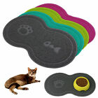 Cat Bowl Mat Dog Pet Feeding Water Food Dish Tray Wipe PVC Clean Floor Placemat