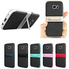 US Samsung Galaxy Note 8 J5 J7 Dual Layer Armor Rugged Case With PC Holder Cover