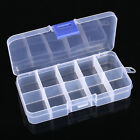 10 15 Compartments Plastic Storage Container Case Fishing Lures Bait Tackle Box