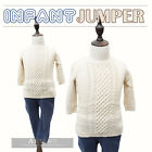 Cotton Knit Soft Warm Elbow Length Sleeves Infant Baby Boy Sweater Jumper Beige