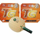 Table Tennis Racket, 729 W-1 (Straight Handle) with 2x DHS NEO Skyline TG2