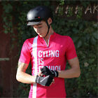 SPAKCT Summer Cycling Short Sleeves Quick Dry Breathable Anti-Sweat Rose Red New