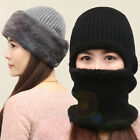 Unisex Bomber Hats Men Women's Outdoor Cycling Warm Caps with ear flaps and Mask