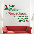 Merry Christmas Quote Decal Christmas Window Stickers Christmas Decorations, h43