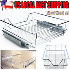 4 Sizes Single Tier Pull-Out Basket Kitchen Cabinet Pull Out Sliding Shelves
