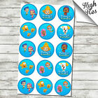 "BUBBLE GUPPIES 1.5"" & 2"" ROUND EDIBLE CUPCAKE TOPPERS"