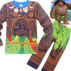 Cool Kids Boys Moana Maui Tattoo Cosplay Clothing  Halloween Party Costumes Sets