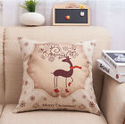 2017 Christmas Xmas Santa Sofa Throw Cushion Pillow Case Cute Home Decor Gifts