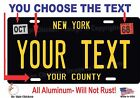New York License Plate Personalized Custom Auto Bike Moped Motorcycle Tag BLACK