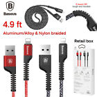 Nylon Braided Apple Iphone 7 6s Plus 5s Se Lightning Usb Data Syn Cable Charger