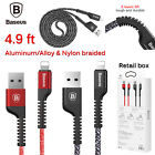 Nylon Braided Apple Iphone X 8 7 6s Plus Se Lightning Usb Data Syn Cable Charger