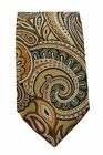 Mens Paisley Slim Tie 2 Inch Gold Occassion Party Wedding Formal Smart Tie