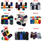 5 Packs Men Invisible No Show Nonslip Loafer Boat Liner Low Cut Socks US 6-9
